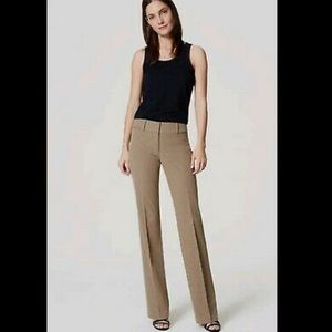 Ann Taylor Loft 'Ann' trousers camel wide leg
